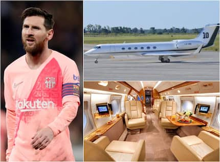 Inside Lionel Messi's KSh15 billion new luxurious private jet which has a kitchen, 2 bathrooms (photos)