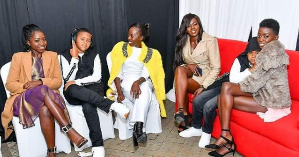 Akothee and her five children.