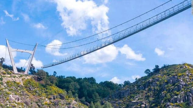Portugal Impresses the World as It Officially Opens World's Longest Pedestrian Suspension Bridge