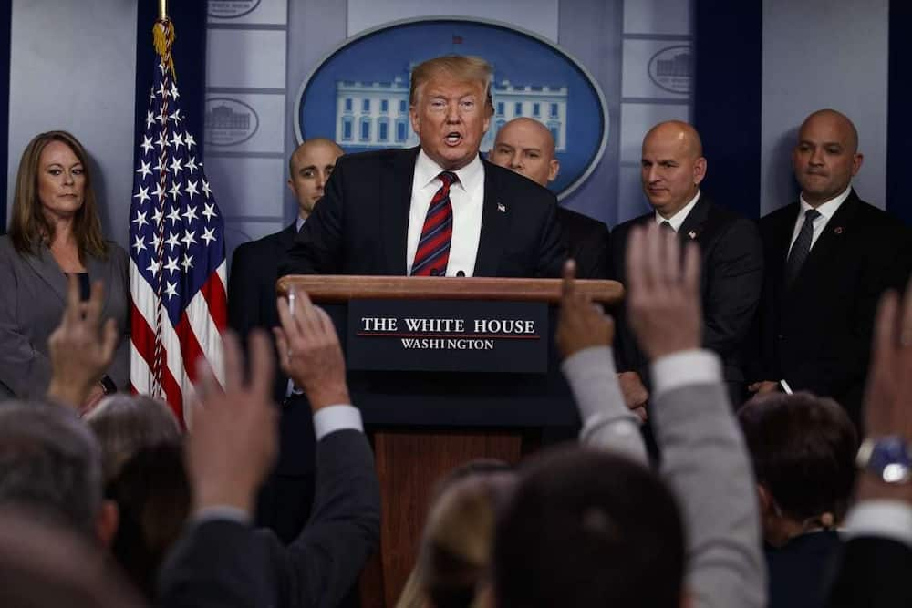 Trump warns reporter: Don't ever talk to the president that way