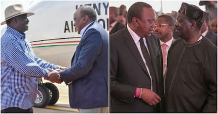 Uhuru, Raila slither away to secret location in Kisumu sending panic among elaborate security team