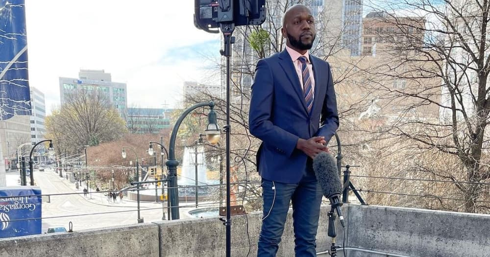 """Larry Madowo Hilariously Battles with Umbrella While Presenting News: """"It Tried to Embarrass Me"""""""