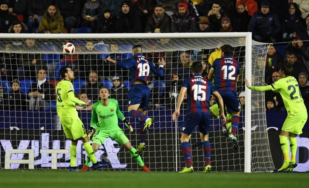 Barcelona suffer 2-1 defeat at Levante in Copa Del Rey round of 16 clash