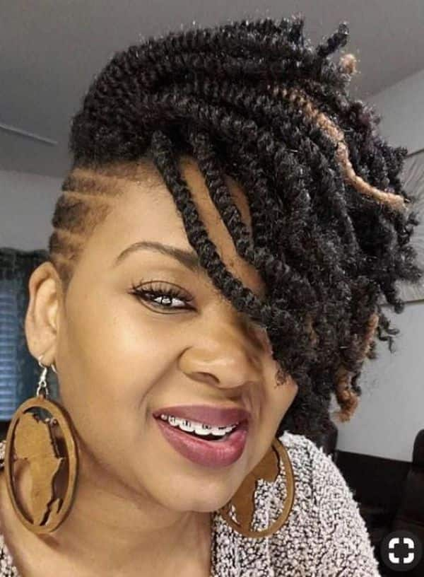 20 best kinky twists with shaved sides hairstyles tukocoke