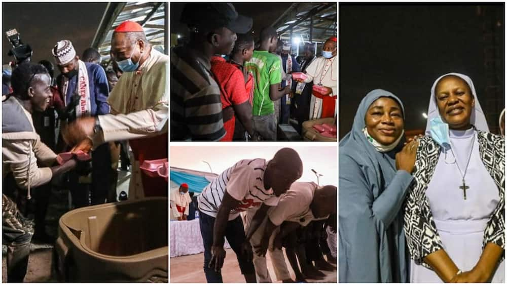 Ramandan: Catholic Priest Donates Food to Muslims to Break Fast, Shows Love, Prays with them