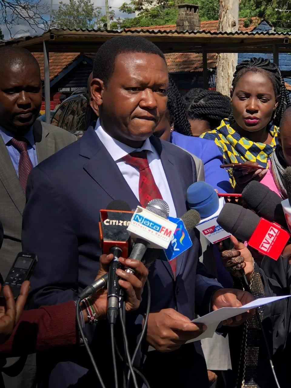 Alfred Mutua afutilia mbali mpango wa Uhuru kumuidhinisha kiongozi wa NASA kumrithi