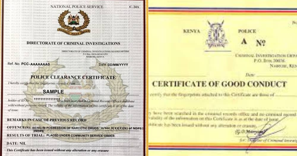 Certificate of Good Conduct. Photo: DCI.