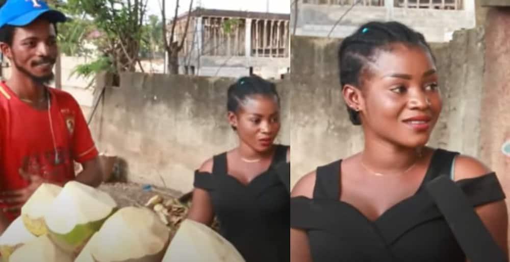 The young Ghanaian lady. Photo: DE GOD SON TV.