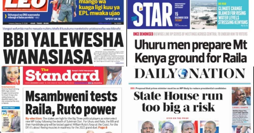 Kenyan newspapers review for December 15: Kenya orders 24M doses of COVID-19 vaccine for KSh 10bn