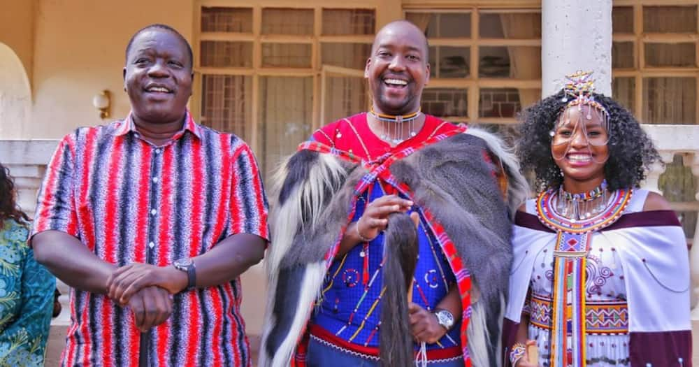 Late CS Joseph Nkaissery's son Kenneth weds partner in beautiful Maasai ceremony