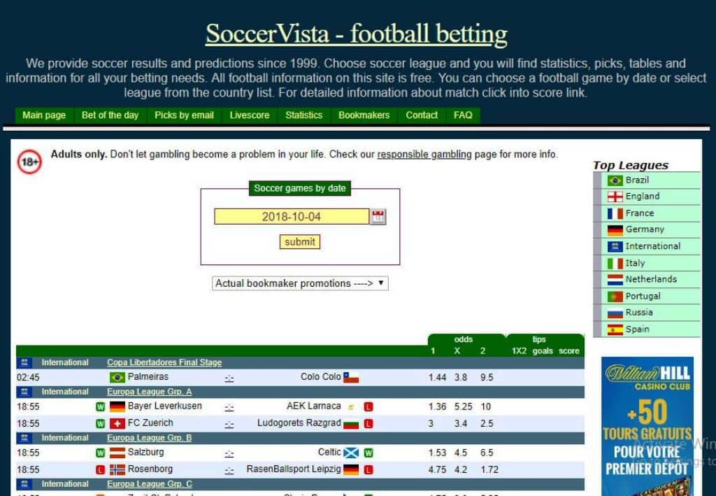 Soccervista soccer predictions betting buy sports betting picks