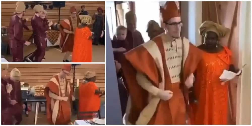 Trending video of Oyinbo man and friends making grand entrance in event with Don Jazzy's song