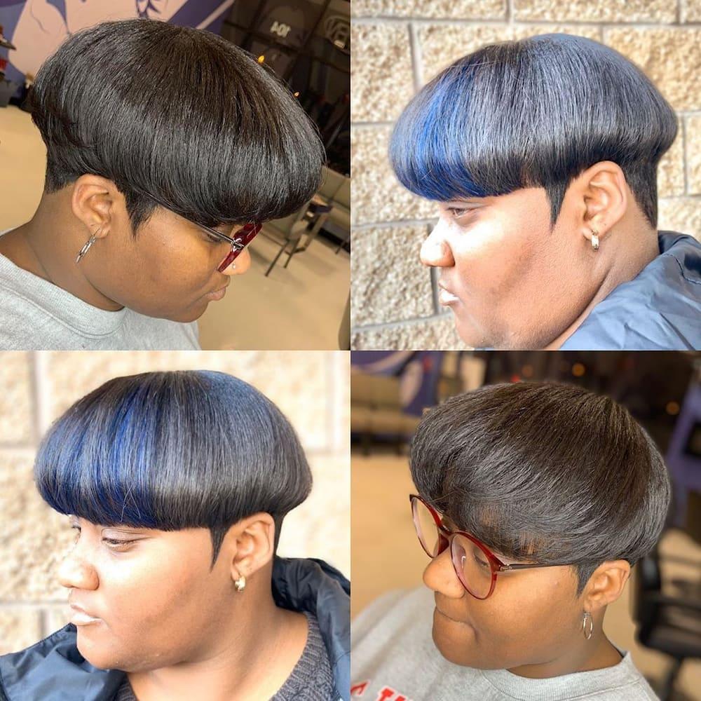 Bowl cut girl
