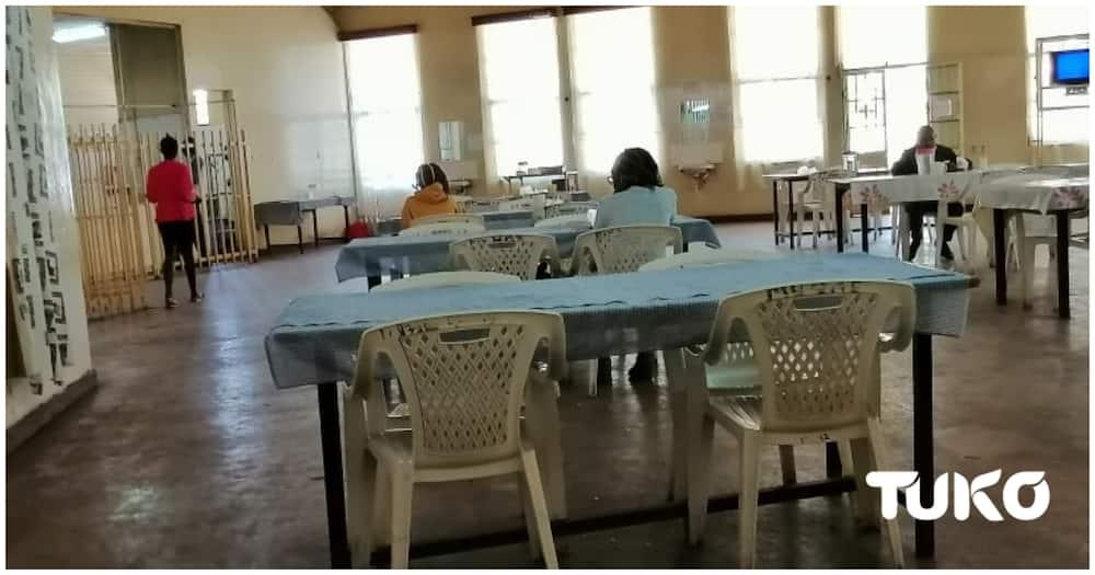 Inside Moi University's students centre mess. Photo: Joseph Alovi.