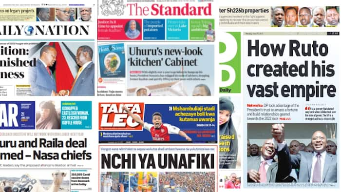 Newspapers Review For June 21: Ruto Sidelined as Raila Inches Closer Tom Power