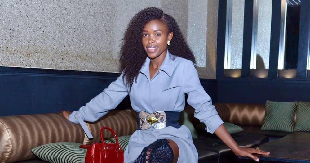 Actress Awinja remembers Papa Shirandula by wearing shirt dress with his image