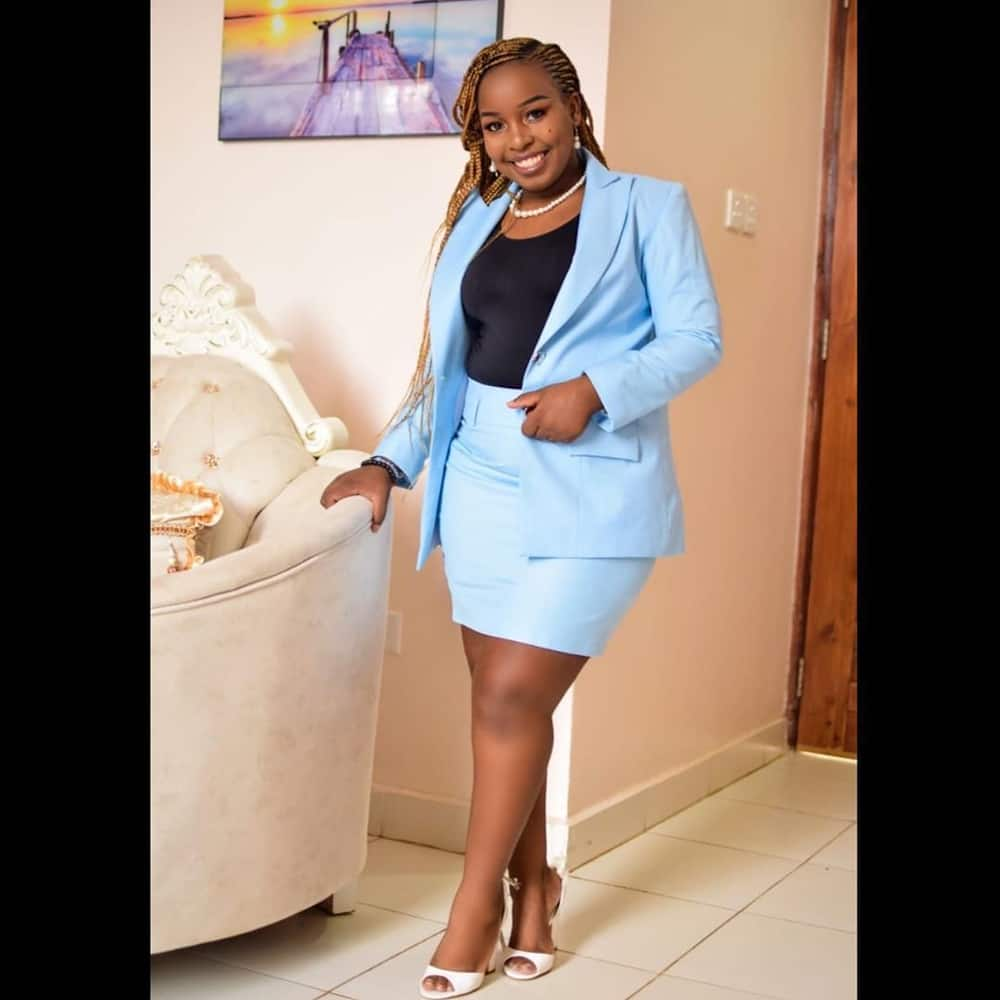 7 gorgeous photos of Saumu Mbuvi new look rocking elegant and classy official suits