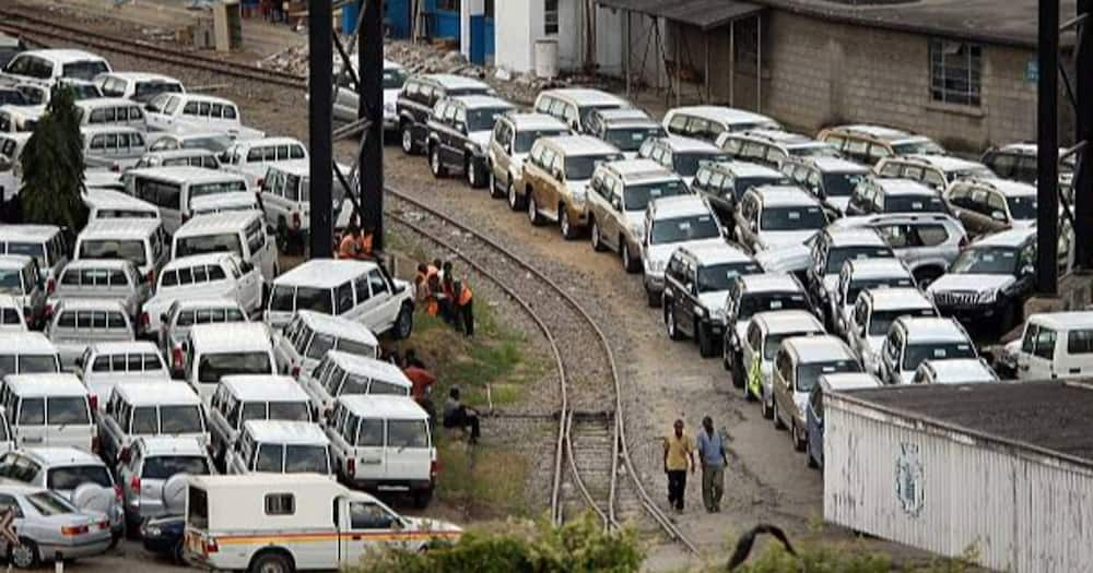 Imported vehicles at the Mombasa Port. Photo: Getty Images.