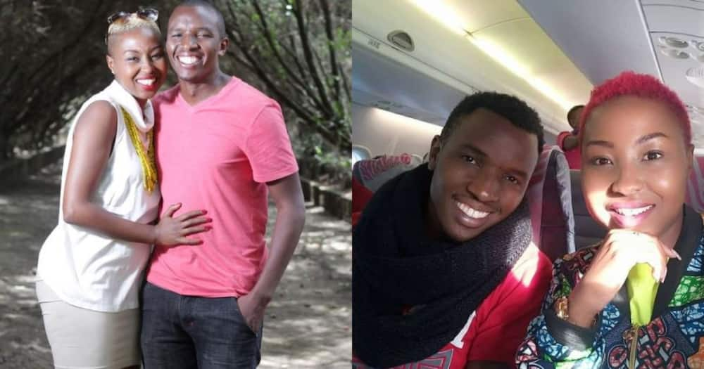 Vivianne Wambui and her hubby Sam West during their happy moments.