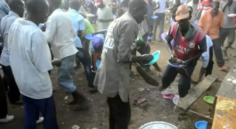Tharaka MP's Christmas ceremony turns chaotic after residents scramble for meat