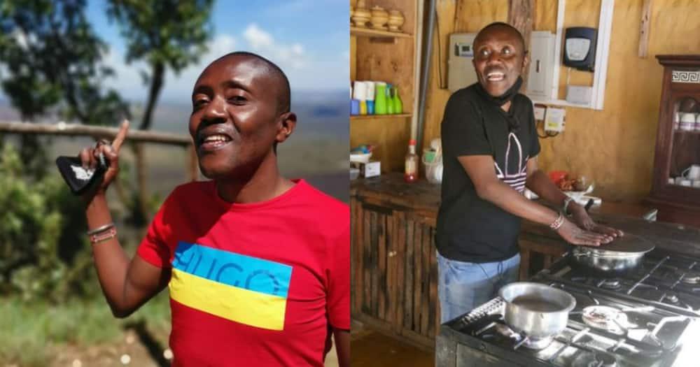 """Maina Kageni tickled by Bukusu man who hilariously """"blessed"""" whiskey bottle"""