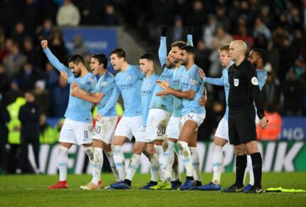 Manchester City defeat Leicester City in Carabao Cup quarter final