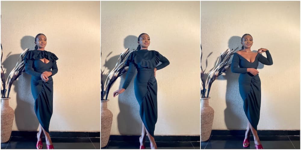 Talented Nigerian tailor makes adorable gown that can be worn in 3 different styles, cute photos go viral