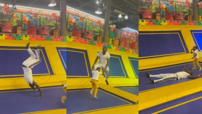 Ababu Namwamba Taps Into His Childhood Side During Fun Trampoline Date with Kids
