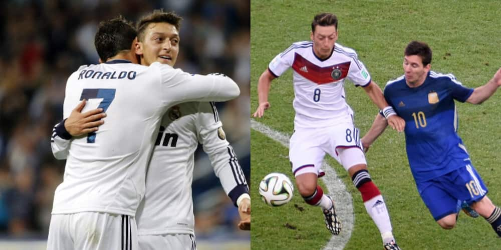 Arsenal star Ozil reveals what makes Ronaldo a better achiever than Messi