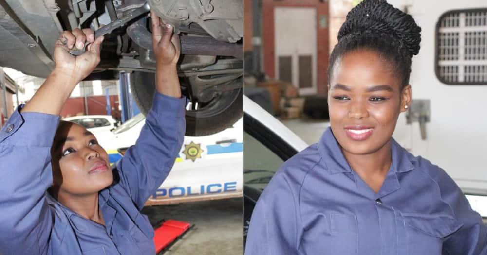 Constable Thulile Gwala, 1st Female Mechanic to Work at Eshowe Garage