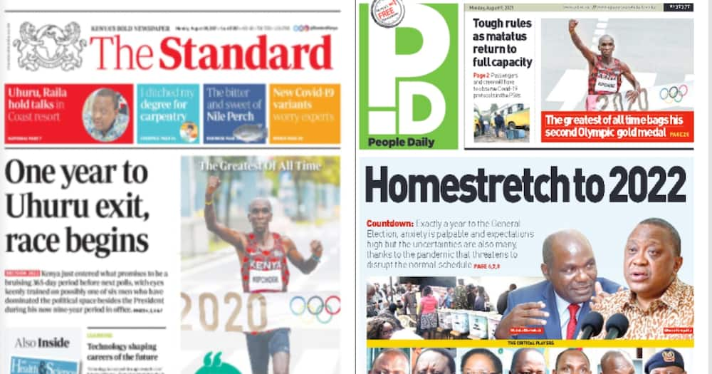 Kenyan Newspapers Review For August 9: There are plans to push the upcoming vote to 2023.