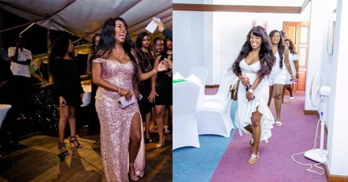 Lilian Muli stuns fans after stepping out in daring dress showing thunder thighs, cleavage