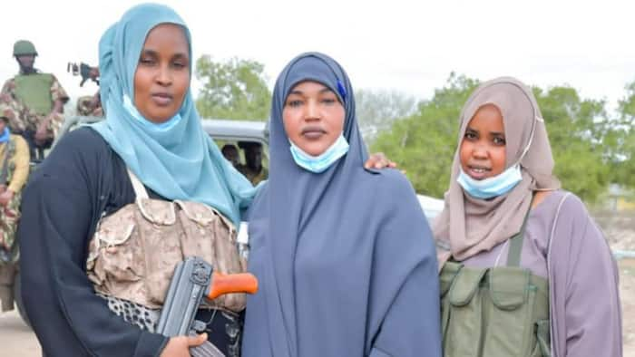 Garissa Woman Rep Anab Gure Steps out With Female Bodyguards, Gets Kenyans' Talking
