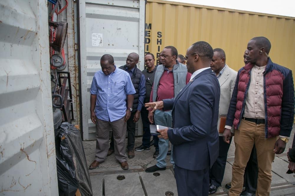 Uhuru Detects Unusual Deal At Embakasi Inland Deport