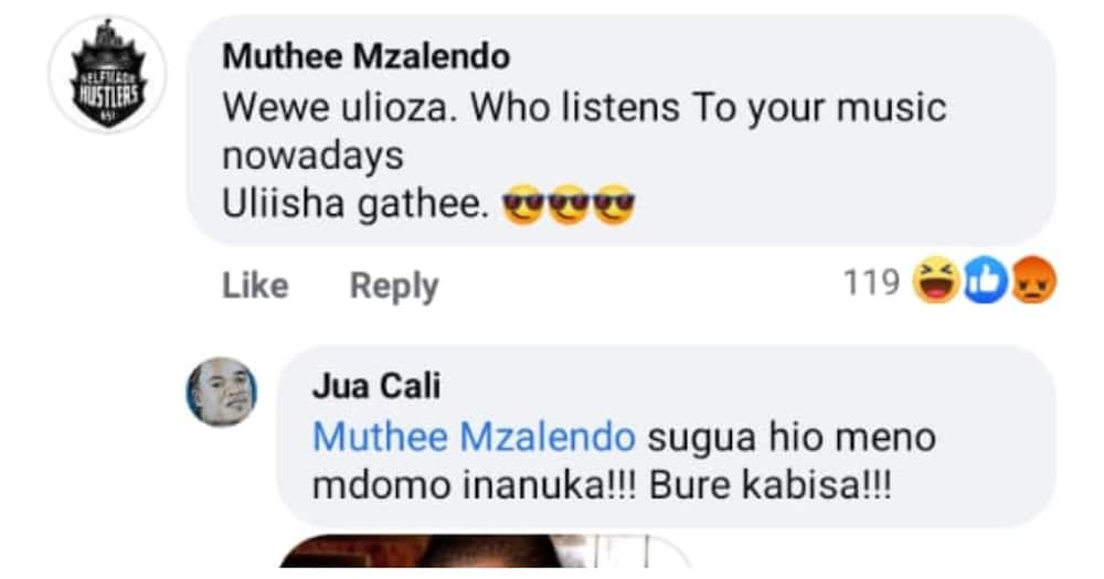 Jua Cali Angrily Hits Back at Fan Who Claimed He's Finished Musically