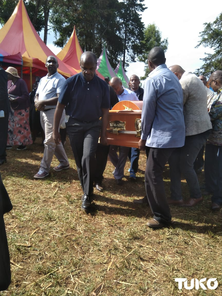 Tears as journalist killed in road accident is laid to rest at his Nyeri home