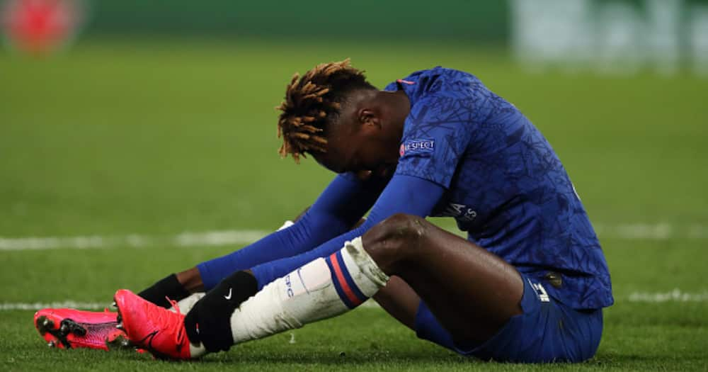 Tammy Abraham cuts a dejected figure while in action for Chelsea. Photo: Getty Images.