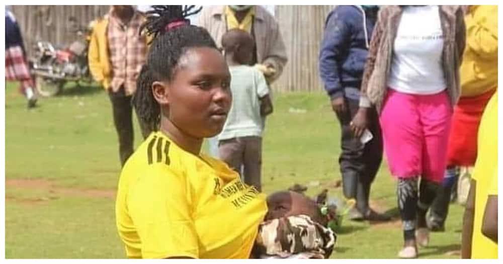 Winnie Kamau: Lady Photographed Breastfeeding Baby at Half Time Says Life Has Changed Tremendously