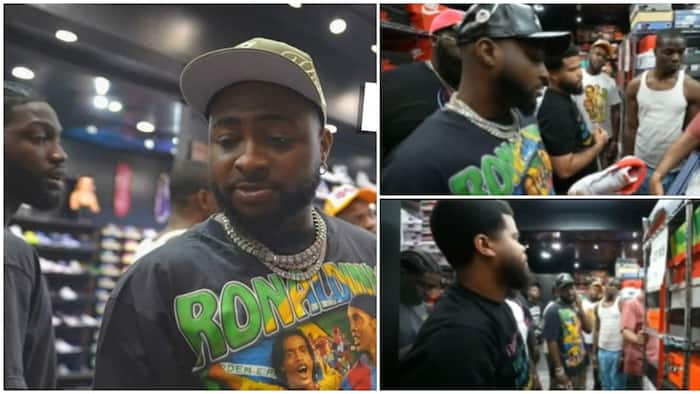 Davido Praised by Fans after He Took Entire 30BG Crew on Sneakers Shopping Spree