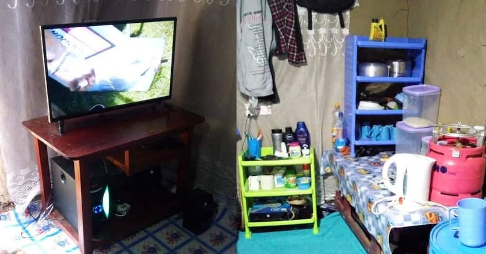 Humble bachelor shows off his simple, organised mabati bedsitter