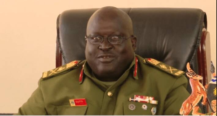 General Andrew Gutti. His farm was raided by thugs on Wednesday, March 312. Photo: UGC.