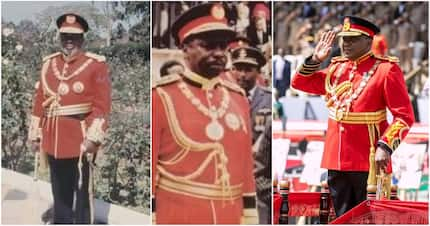Uhuru follows in Jomo Kenyatta's, Moi's footsteps, dresses in full military ceremonial tunic