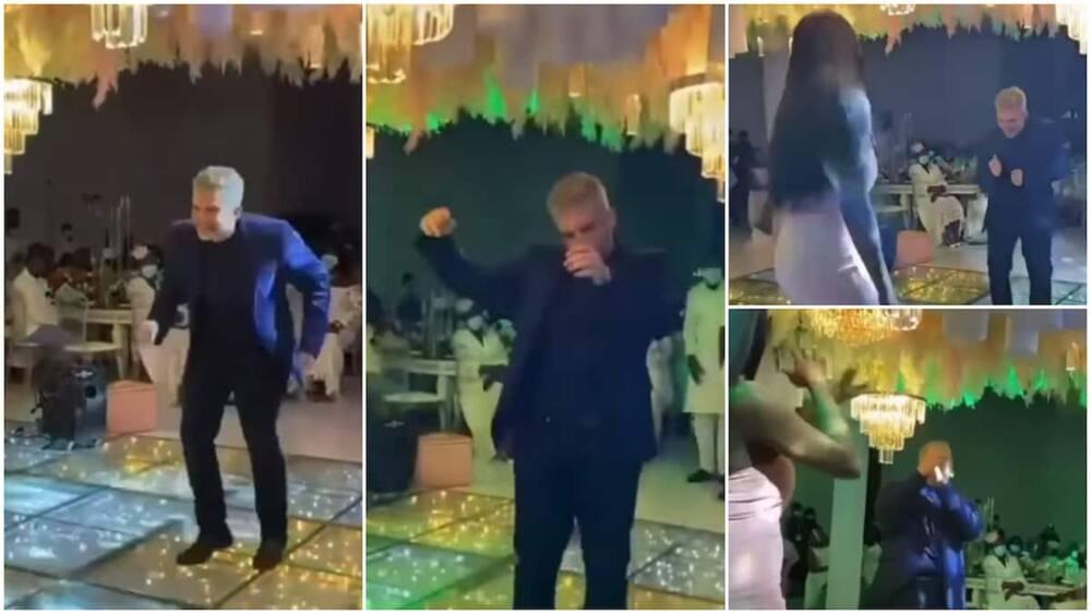 The oyinbo man's moves got him praise