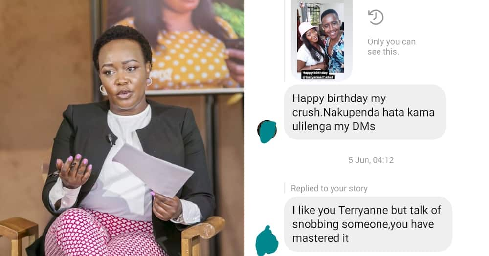 Terryanne Chebet has ignited discussion online after denying a young man a job.