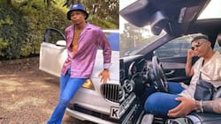"""Otile Brown's BMW Damaged by Falling Debris along Mombasa Road: """"Day Ruined"""""""