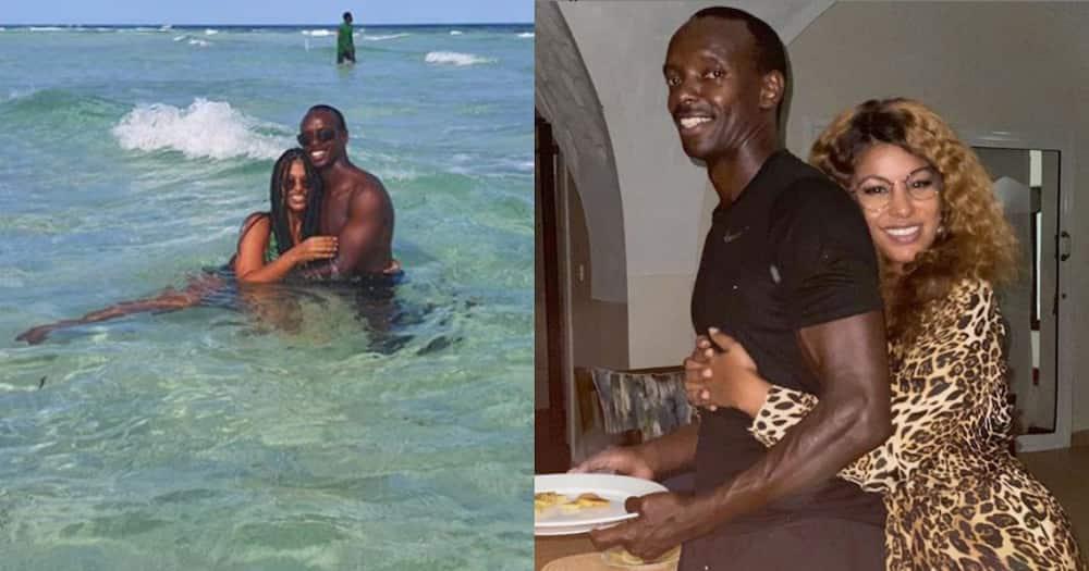 Julie Gichuru, hubby tap into their inner children during playful swim at the beach