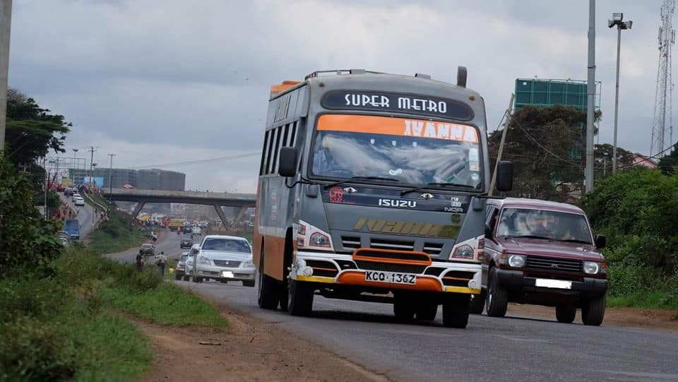 Thousands of early morning commuters were left stranded at the Ngong bus terminus after matatus strike: Photo: Super Metro.