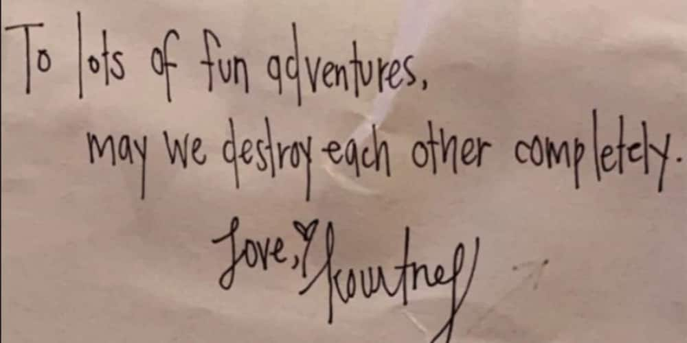 Kourtney Kardashian's new boo Travis Barker shares cute love note he received from her
