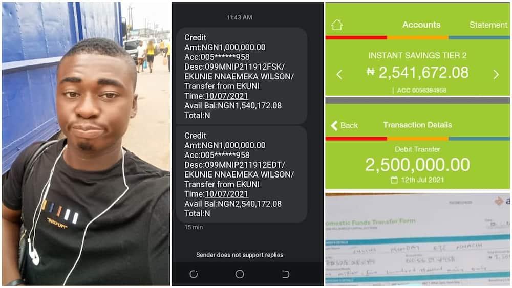 The young man was identified as Julius Eze. Photo: Julius Eze