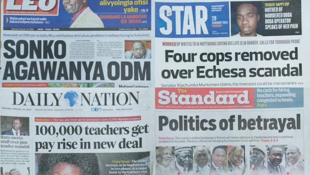 Kenyan newspapers review for February 20: Looming crisis at Supreme Cour as CJ Maraga seeks early retirement